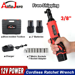 12v 3 8 Cordless Electric Ratchet Socket Wrench Spanner Gun Battery