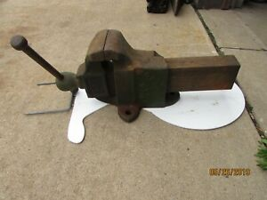 Antique Hollands Mfg Co Bench Vise 45 Erie Pa 5 Jaws 9 Open