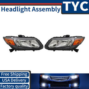 Tyc 2x Left Right Headlight Headlamp Assembly Replacement For 2012 Honda Civic