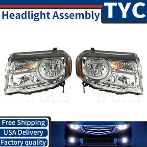 Tyc 2x Left Right Headlight Assembly Replacement Kit For 2013 2014 Honda Pilot