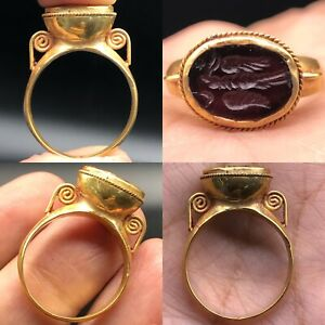 Ancient Roman Emperor Stunning High Karat Gold Ring