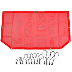 Car Front Top Sunshade Protective Cover Mesh Parts For Jeep Wrangler Tj Jk Jl