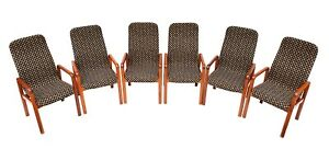 Set Of 6 Danish Sculptural High Back Teak Dining Chairs Dyrlund Denmark 70 S