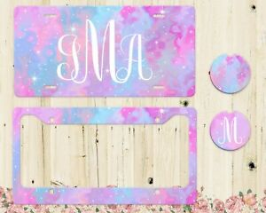 Personalized Monogram Galaxy License Plate Custom Initials Purple Car Tag New