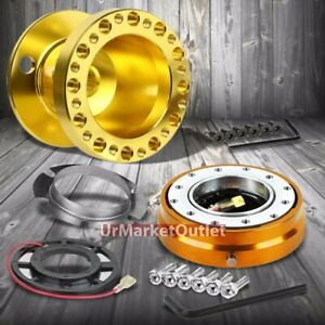 Gold Steering Wheel Hub Adapter gold Quick Release For 92 95 Integra Dc2 civic