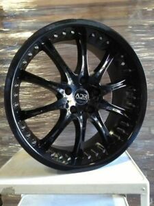 1x New 19x8 5 Adr 62 Revolver 5x100 5x114 3 20 Black Wheel Rim