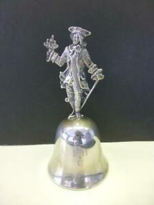 Figural Victoiran Man Flowers Ayer Taylor Sterling Silver Dinner Bell Fhc