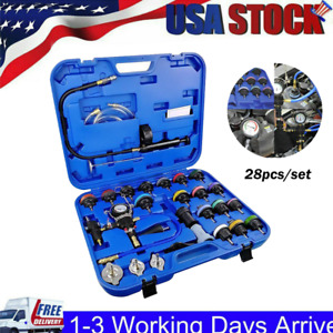 28x Adapters Radiator Pressure Tester Kit Coolant Vacuum Type Cooling System Usa