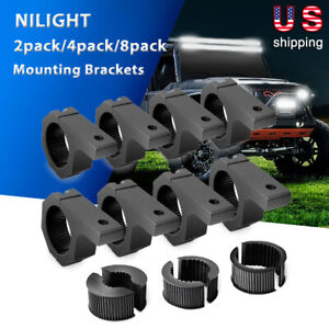 Nilight Horizontal Bar Clamp Mounting Bracket Kit For Off road Led Light Bar 4wd