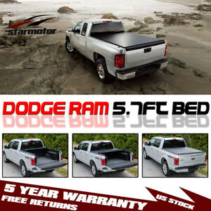 Roll Up Tonneau Cover For 2009 2019 Dodge Ram 1500 2500 3500 5 7ft 68 4 Bed