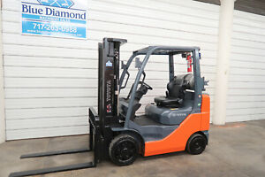 2016 Toyota 8fgcu25 5 000 Cushion Tire Forklift Triple Sideshift Low Hours