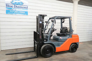 2015 Toyota 8fgu32 6 500 Pneumatic Tire Forklift Lp Gas 3 Stage 4 Way Hyd