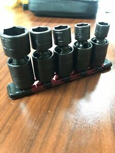 Snap On Sae Universal Impact Sockets 5 Piece Set