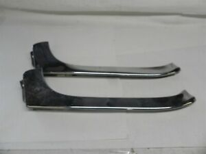 1959 Chrysler Imperial Set Of Two Left Front Window Side Trim Molding Stainless
