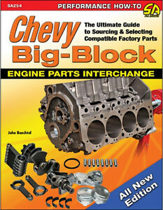 Chevy Big Block Engine Parts Interchange Book Compatibility Parts Id New