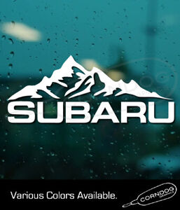 Subaru Mountains Sticker Vinyl Decal Impreza Crosstrek Subie Outback Forester