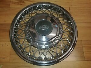 15 Buick Riviera Oem Wire Spoke Hubcap Wheelcover 1 Used H 1129b P 01644549