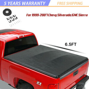 For 99 07 Chevy Silverado gmc Truck 6 5ft Short Bed Vinyl Roll up Tonneau Cover