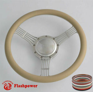 15 5 Flashpower Billet Steering Wheels Tan Half Wrap Corvair Impala Chevy Ii