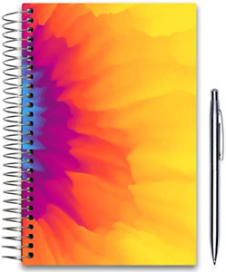 July 2019 2020 Planner 5x8 Hardcover Daily Weekly Monthly Goals Journal