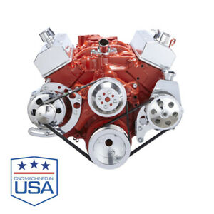 Chevy Small Block Serpentine Conversion Kit Alt Ps Lwp Long Water Pump 283 350