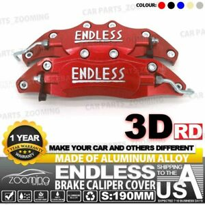 Metal 3d Endless Universal Style Brake Caliper Cover 2pcs Front