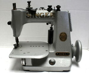 Lot Of 10 Singer 240 1 needle Chainstitch Industrial Sewing Machine Head Only