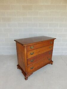 L J G Stickley Cherry Valley Chippendale Style 4 Drawer Chest 43 W