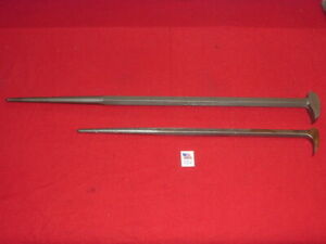 Vintage Mac Tools Part Lf 21 And Proto 2126 Rolling Head Pry Bars Usa