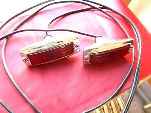 Ultimate Vtg Hot Rod Rat Tail Lights Pair Nos Unique 30 40 50 Custom Ford Chevy