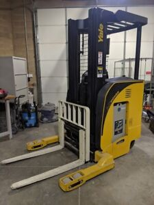 2008 Yale Nr040da Lift Truck Electric Forklift Side Shift 3 Stage Mast