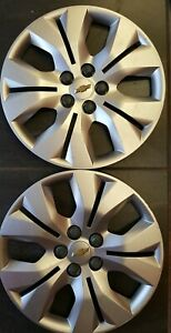 Two Chevy Cruze 2012 2016 Hubcaps Genuine Gm Factory Oem 3294 Wheel Covers
