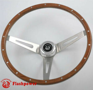 15 Laminated Wood 3 Bolt Classic Steering Wheel Ford Falcon Comet Mustang
