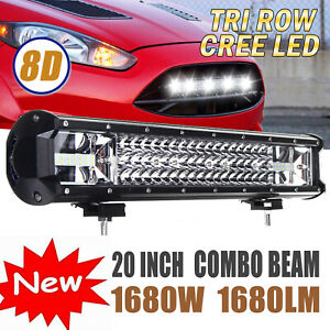 20 Inch Cree Led Work Light Bar 1620w Flood Spot Combo Offroad Driving Lamp 19