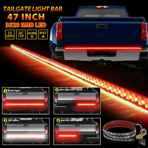 Led Strip Tailgate Light Bar Reverse Brake Signal For Chevy Ford Jeep Gmc Truck