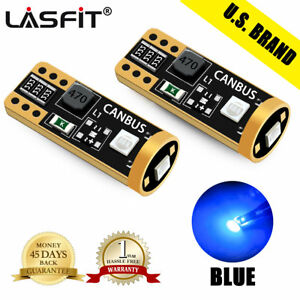 Lasfit 2x 194 T10 W5w Blue Led Map Light Bulbs For Jeep Grand Cherokee 2000 2006