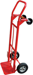 Milwaukee 600 Lb 2 in 1 Convertible Hand Truck Dolly Trolley Moving Cart