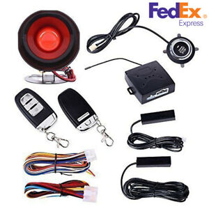 Car Passive Keyless Entry Push Button remote Engine Start Security Alarm System