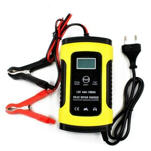 Car Battery Charger 12v 5a Pulse Repair Automatic Maintainer Lcd Auto Trickle
