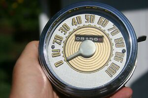 48 1948 Ford Deluxe Speedometer Vintage Odd Odometer Location On Face