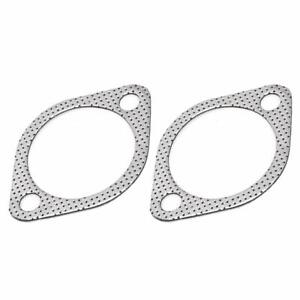 2x Exhaust Gasket 2 Bolt 3 Inch Downpipe Metal Multi Layer Reinforced 76mm Usa