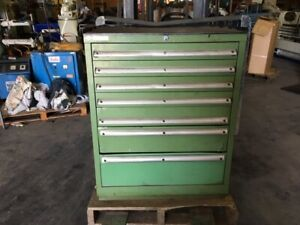 Lista 7 drawer Tool Cabinet 28 w X 28 d X 36 h With 4 2 and 1 3 5 7 Drawers