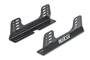 Sparco Seat Brackets Side Mounts Fixed Mount Style Steel Black Powdercoated Pair