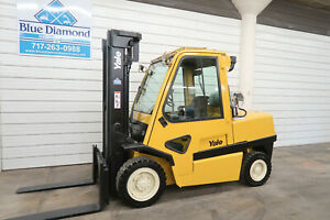2006 Yale Glp120mj Forklift 12 000 Pneumatic Lp Gas Triple Sideshift Cab