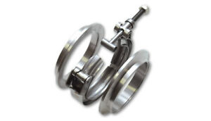 Vibrant Exhaust Clamp 1491 Flange Assembly Stainless Steel Ss304 V band 3 Turbo