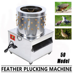 Stainless Steel Commercial Turkey Chicken Plucker Poultry Plucking Machine 1500w