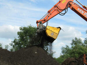 Compact Excavator Soil Screening Bucket Fast And Effective In Damp Soil
