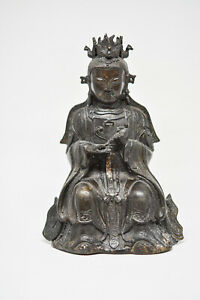 Chinese Vintage Bronze Buddha Figurine 6 Inches Tall