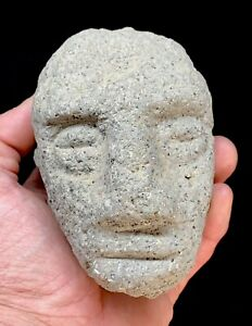 Very Old Rare Ancient Pre Columbian Aztec Mayan Olmec Carved Stone Figure Mexico