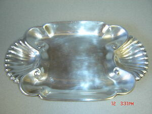 Vintage Silverplate On Copper Vegetable Bread Candy Dish Elegant